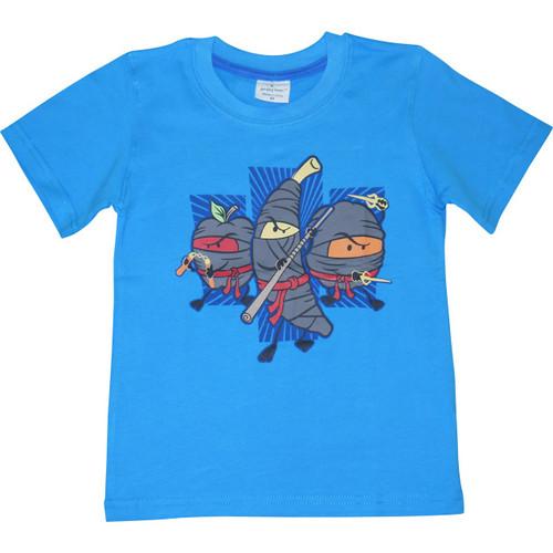 Boys Blue 'Fruit Ninjas' T Shirt.