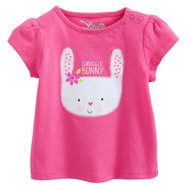 Girls Pink Snuggle Bunny T Shirt.