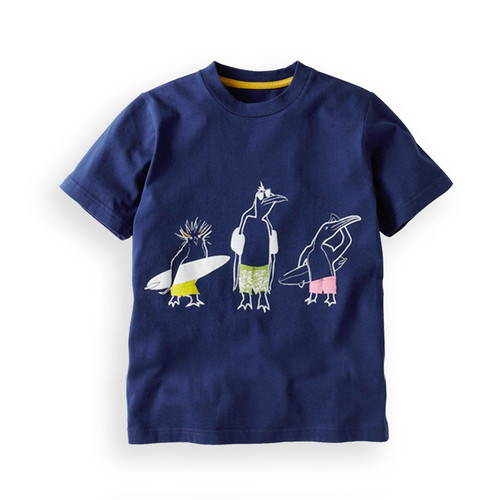 Boys Blue Surfing Penguins TShirt