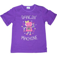 Girls Purple 'Dancin Machine' Robot Tshirt