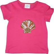 Girls Pink Sea Shell T Shirt