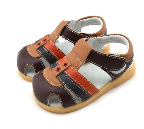 Boys Brown, Camel & Orange Genuine Leather Sandal.