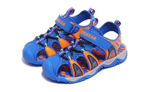 Boys Blue & Orange Beach Sandal.