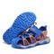 Boys Blue & Orange Beach Sandal with Sole.