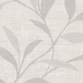 Contemporary Beyond Basics Flora Leaves Island White Wallpaper 420-87130
