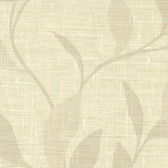 Contemporary Beyond Basics Flora Leaves Cream Wallpaper 420-87133