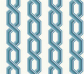 GE3610 - Ashford House Geometrics Retro Links Blue Wallpaper