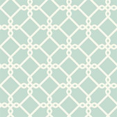 GE3625- Ashford House Geometrics Threaded Links Arctic Blue Wallpaper