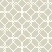 GE3627- Ashford House Geometrics Threaded Links Cloud Grey Wallpaper