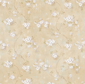 Braham Wheat Country Floral Trail Wallpaper Bone-Porcelain Wallpaper BBC44101