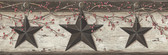 Graham Sand Rustic Star Trail Border Charcoal Wallpaper BBC44601B