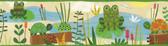 Kermis Frog Marsh Toss Green Border Wallpaper BBC46331B
