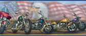 Bruce Americana Motorcycles Portrait Blue Border Wallpaper BBC92321B