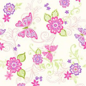 Paisley Butterfly Flower Scroll Fuchsia Wallpaper BBC95511