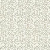 Bradford Abelle Damask Swirl Ivory Wallpaper 492-2001