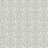 Bradford Abelle Damask Swirl Silver Wallpaper 492-2004