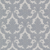 Bradford Bigelow Fabric Damask Stone Blue Wallpaper 492-2010