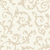 Bradford Harper Elegant Scroll Cream Wallpaper 492-2108