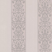 Bradford Arbella Damask Swirl Stripe Mauve Wallpaper 492-2306