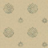 Brilliance Meadow Medallion Basil Wallpaper BRL980817