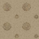 Brilliance Meadow Medallion Cedar Wallpaper BRL98087