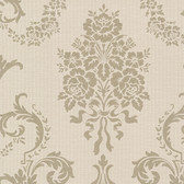 Buckingham Chambers Floral Damask Sepia Wallpaper 495-69001