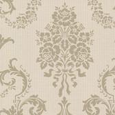 Buckingham Chambers Floral Damask Sepia Wallpaper 495-69001