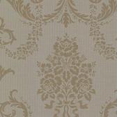 Buckingham Chambers Floral Damask Wood Wallpaper 495-69003
