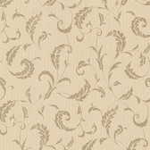 Buckingham Ashton Brass Scrolls Latte Wallpaper 495-69008