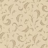Buckingham Ashton Brass Scrolls Latte Wallpaper 495-69008