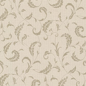 Buckingham Ashton Brass Scrolls Sepia Wallpaper 495-69009