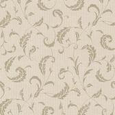 Buckingham Ashton Brass Scrolls Sepia Wallpaper 495-69009