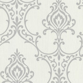 Buckingham Scott Noveau Damask Ash Wallpaper 495-69020