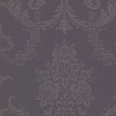 Buckingham Chambers Floral Damask Plum Wallpaper 495-69040