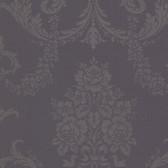 Buckingham Chambers Floral Damask Plum Wallpaper 495-69040
