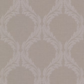 Buckingham Blake Ogee Pale Brown Wallpaper 495-69052