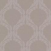 Buckingham Blake Ogee Pale Brown Wallpaper 495-69052