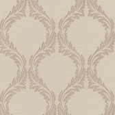 Buckingham Blake Ogee Khaki Wallpaper 495-69053