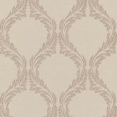 Buckingham Blake Ogee Khaki Wallpaper 495-69053