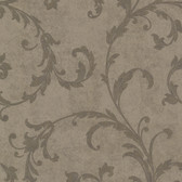 Buckingham Milton Shimmer Scroll Cedar Wallpaper 495-69067