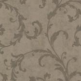 Buckingham Milton Shimmer Scroll Cedar Wallpaper 495-69067