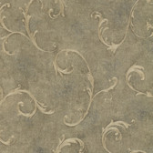 Bayley Scroll Basil Wallpaper 2601-20832