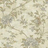 Carleton Floral Trail Slate Wallpaper 292-80300