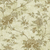 Carleton Floral Trail Olive Wallpaper  292-80308
