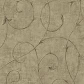 Carleton Scroll Ecru Wallpaper 292-80906