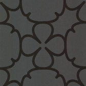 Contemporary Geometric Ironwork Shadow Grey Wallpaper 302008