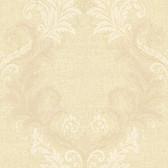Chateau Sofia Royal Harlequin Scroll Granola Wallpaper FS1185