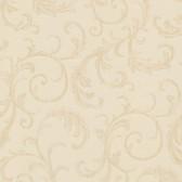 Chateau Chambord Donata Regal Scroll Latte Wallpaper FS1291