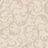 Chateau Chambord Donata Regal Scroll Sepia Wallpaper FS1292