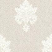 Chateau Chambord Bianca Noble Damask Linen Wallpaper FS13243
